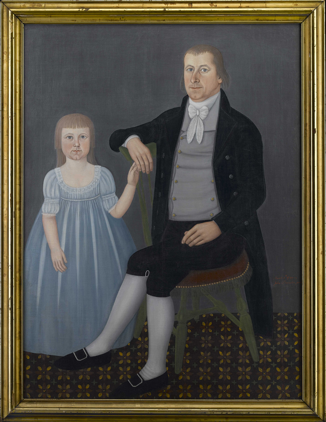 Comfort Starr Mygatt and daughter Lucy painted by John Brewster, Jr.